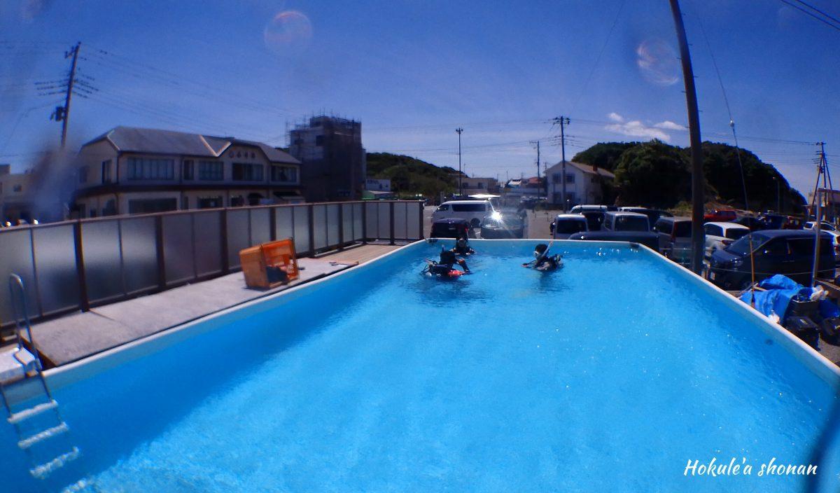 屋外のプールって最高です!