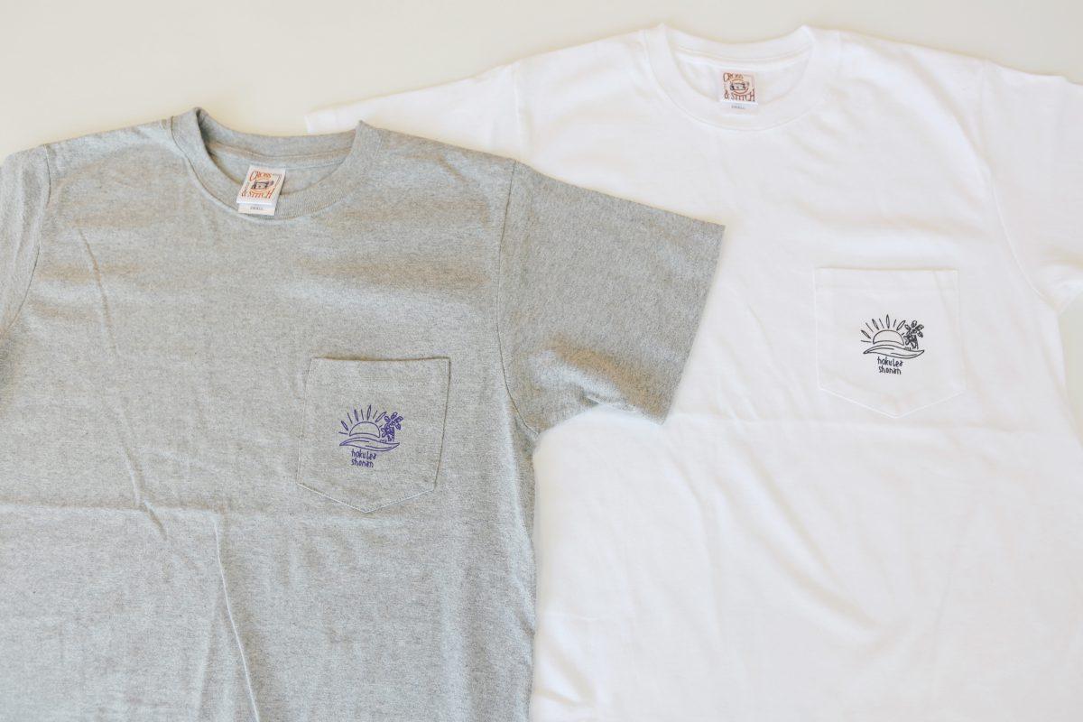 グレーとホワイトTシャツ