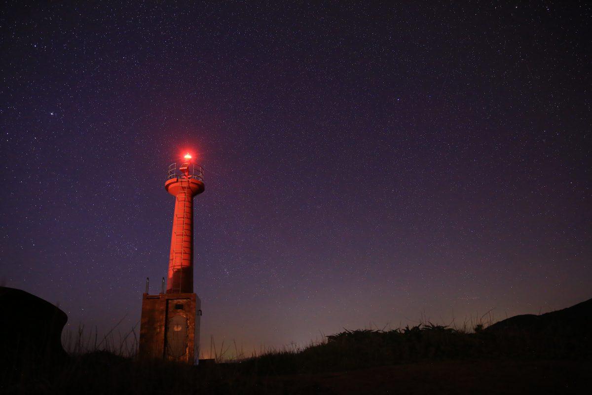 赤灯台 柏島 星空