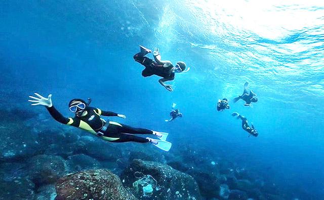 スキンダイビングの海洋講習