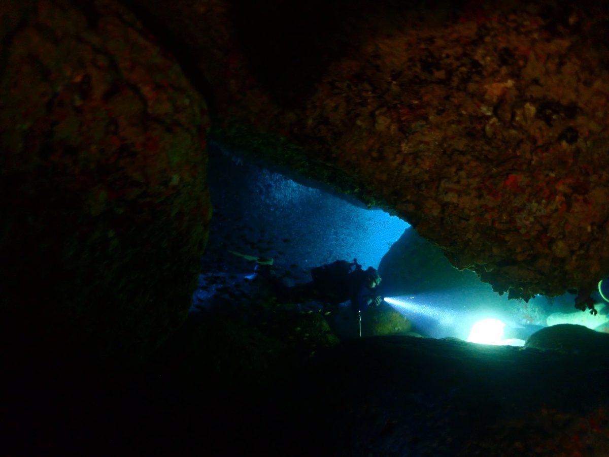 洞窟ダイブ