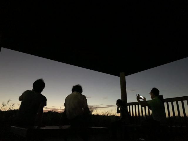 伊豆大島 夕陽